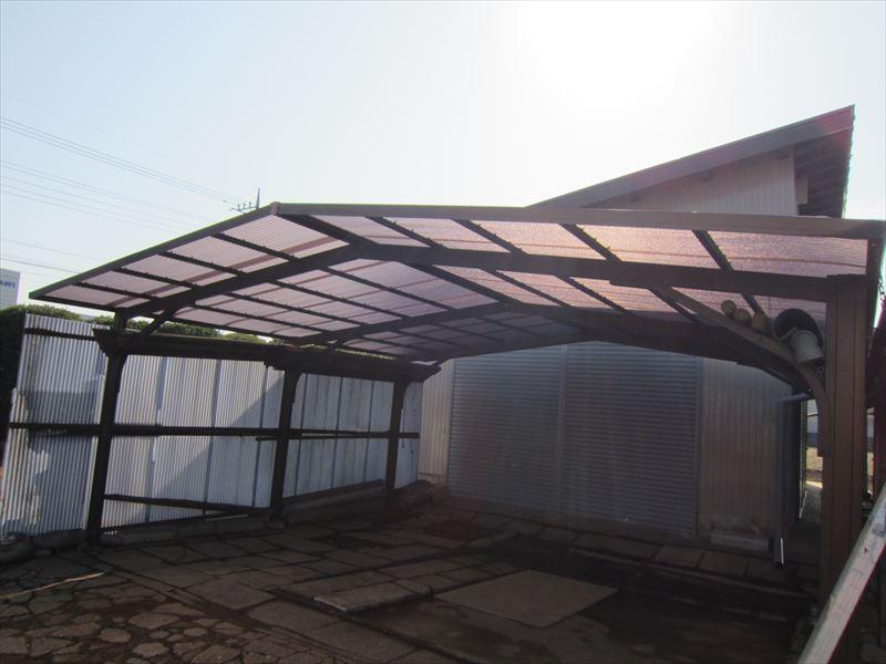 カーポート屋根張り替え完了
