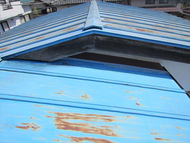屋根破風板点検