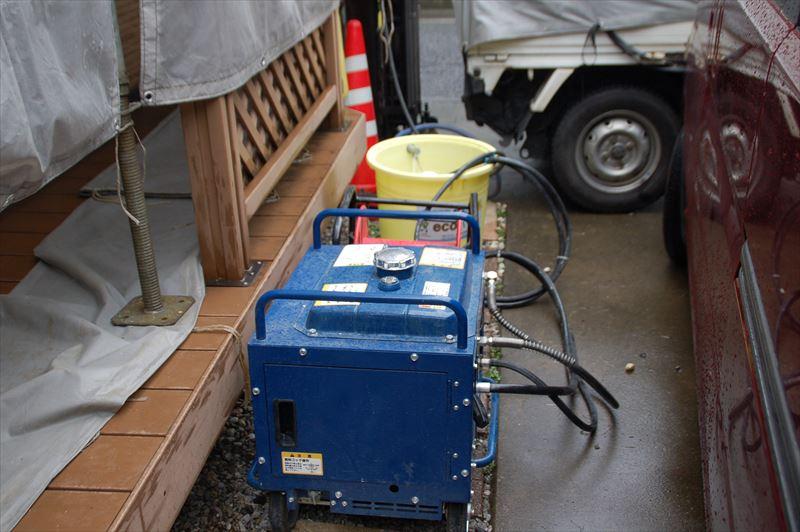 高圧洗浄機のコンプレッサー
