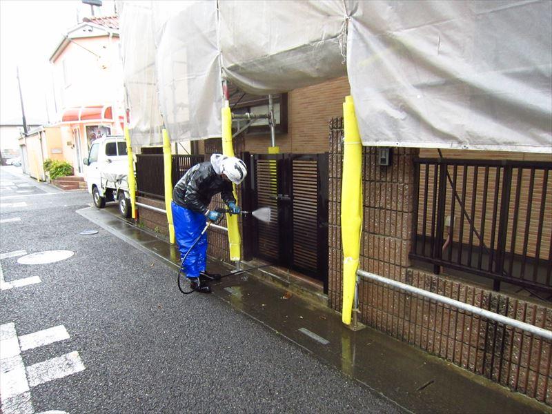 門扉の高圧洗浄