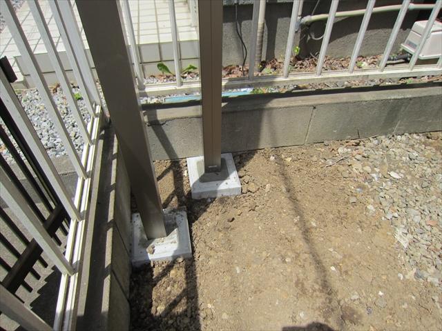 白岡市 フェンス取付工事