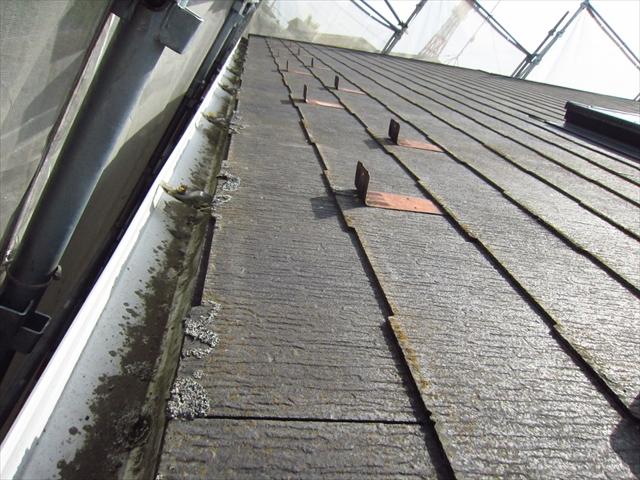 スレート瓦の劣化と汚れ