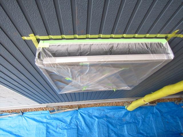 外壁塗装の養生2