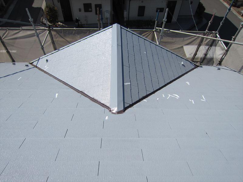 大屋根下塗り完了