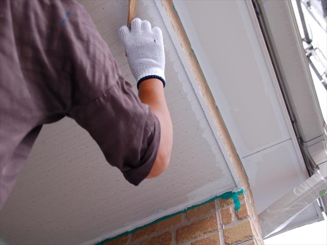 軒天を塗装