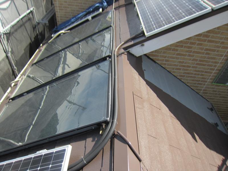 スーパーシャネツサーモSiでスレート屋根の中塗り