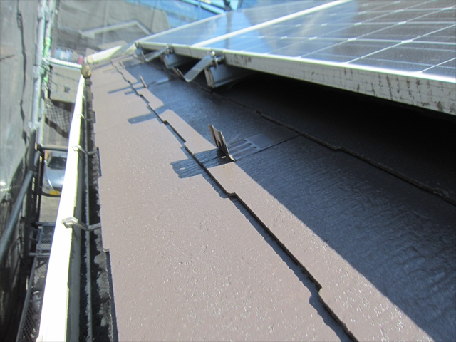 屋根塗装上塗り1