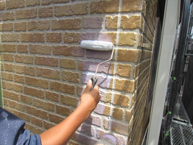 外壁上塗り南面ローラー