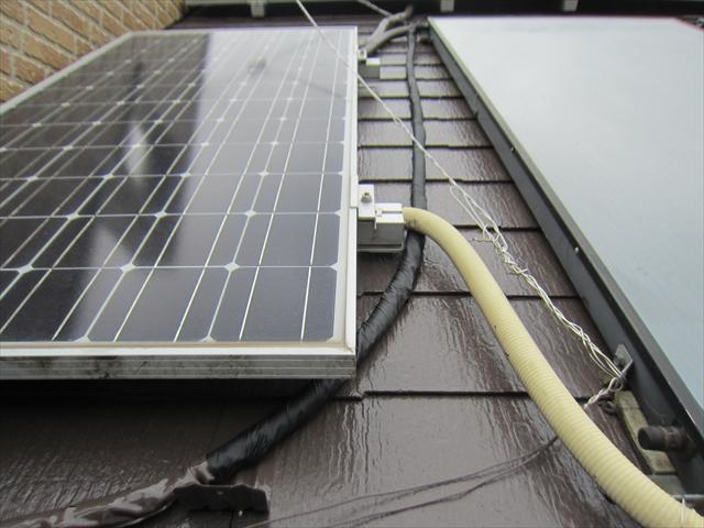 補修した屋根配管