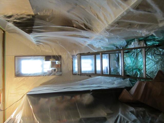 キッチン天井補修のための養生2