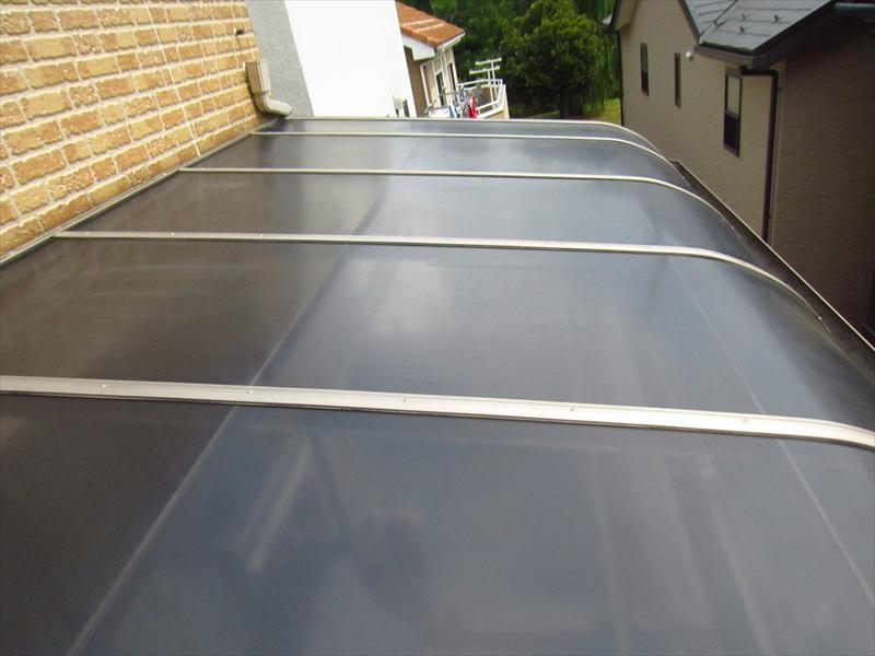 ベランダ屋根取付完了