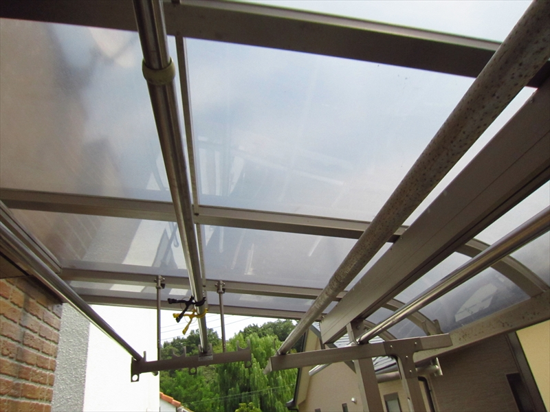 ベランダ屋根取付完了2
