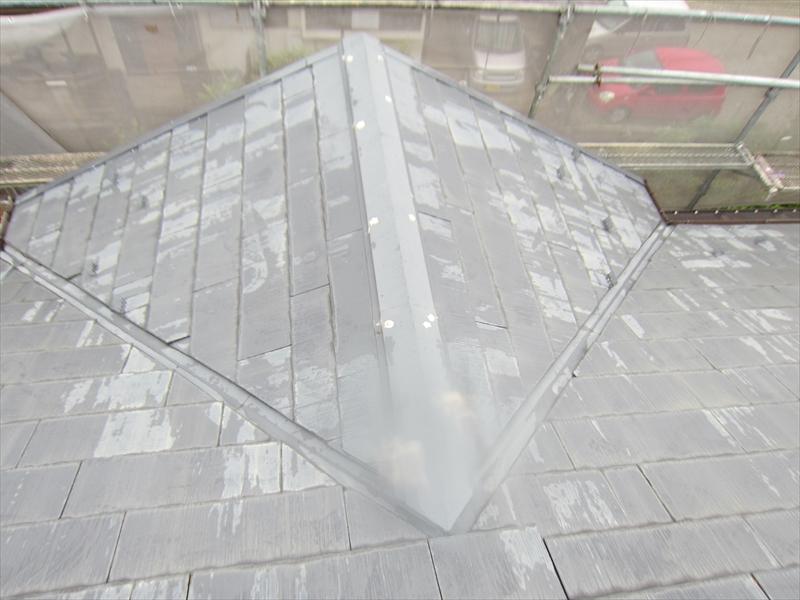 高圧洗浄後のスレート瓦屋根