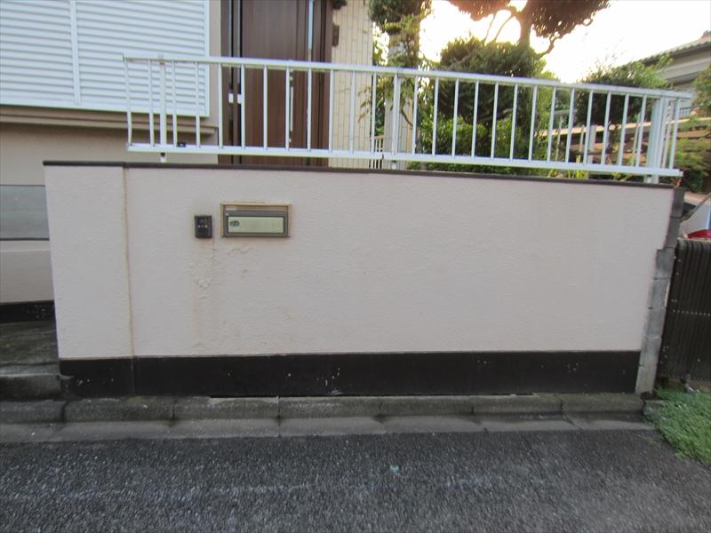 門柱壁の苔