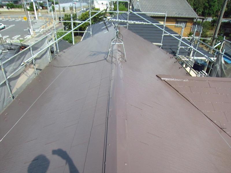 サーモアイSiで塗装後のスレート屋根