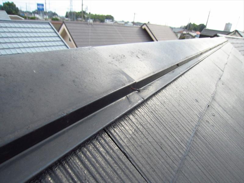 スレート屋根棟包の釘浮き