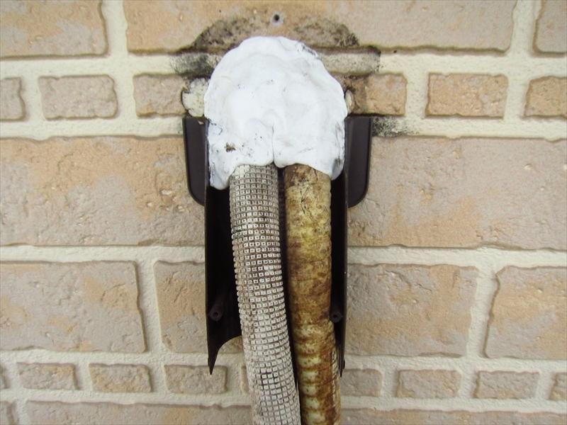 エアコン配管部分補修