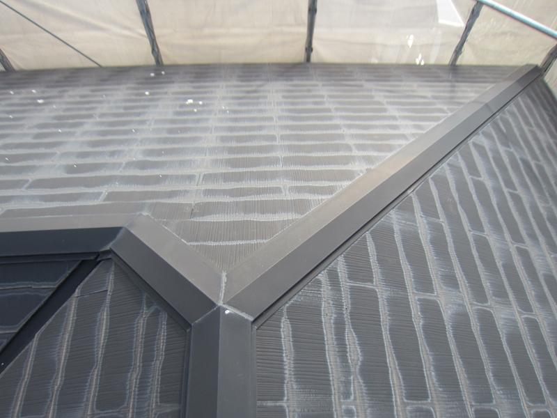 塗装前スレート屋根