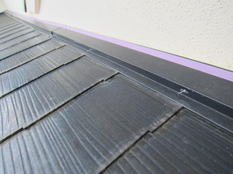 白岡スレート屋根塗装前補修