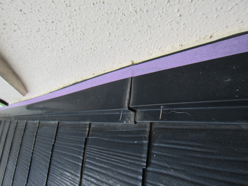 白岡スレート屋根塗装前補修2