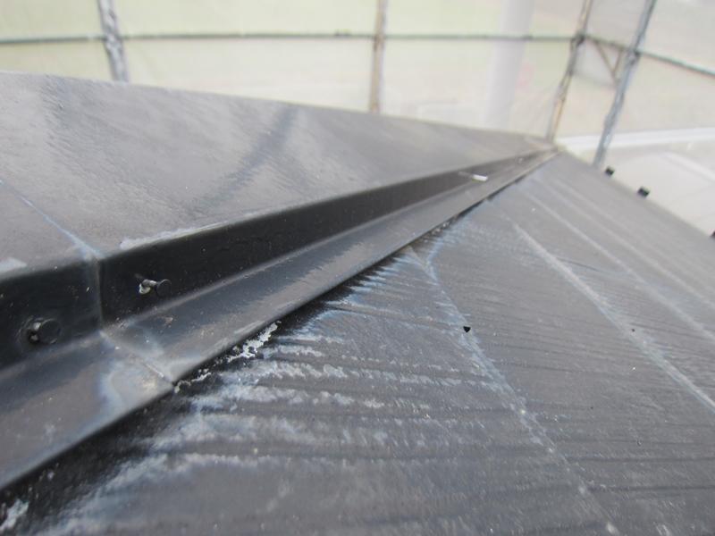 白岡スレート屋根塗装前補修4