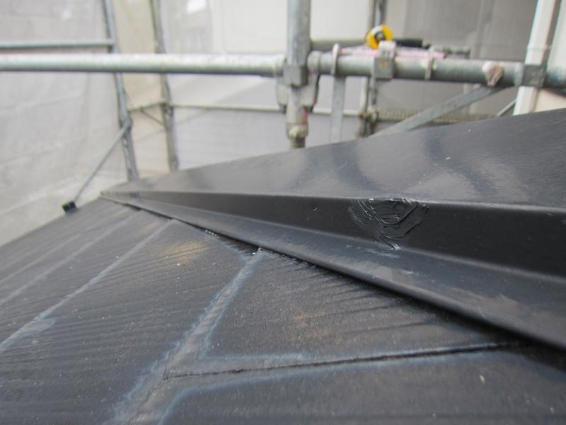 白岡スレート屋根釘浮き補修後