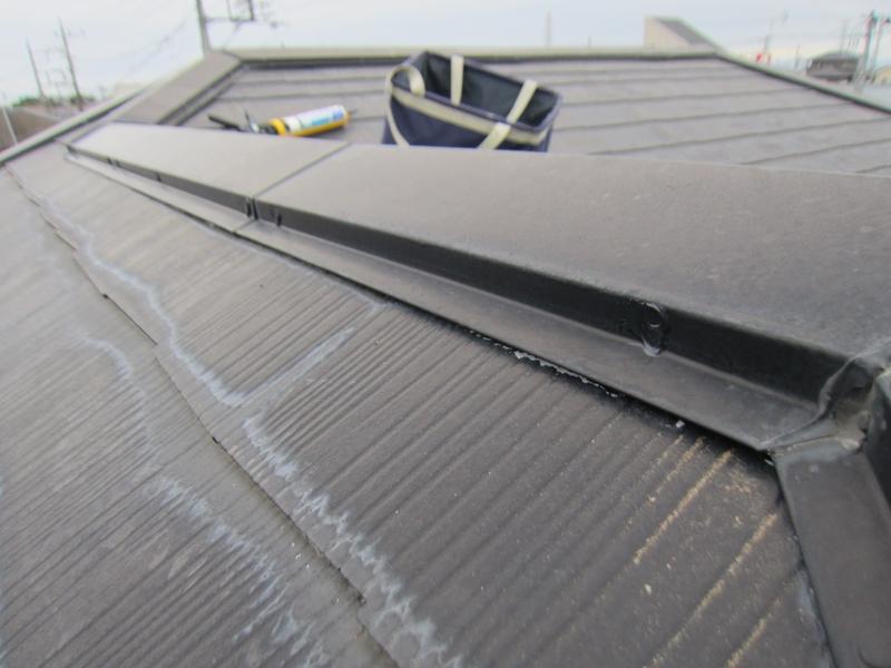 白岡スレート屋根釘浮き補修後3