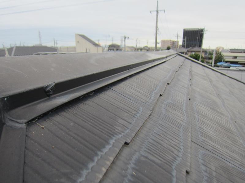 白岡スレート屋根釘浮き補修後4