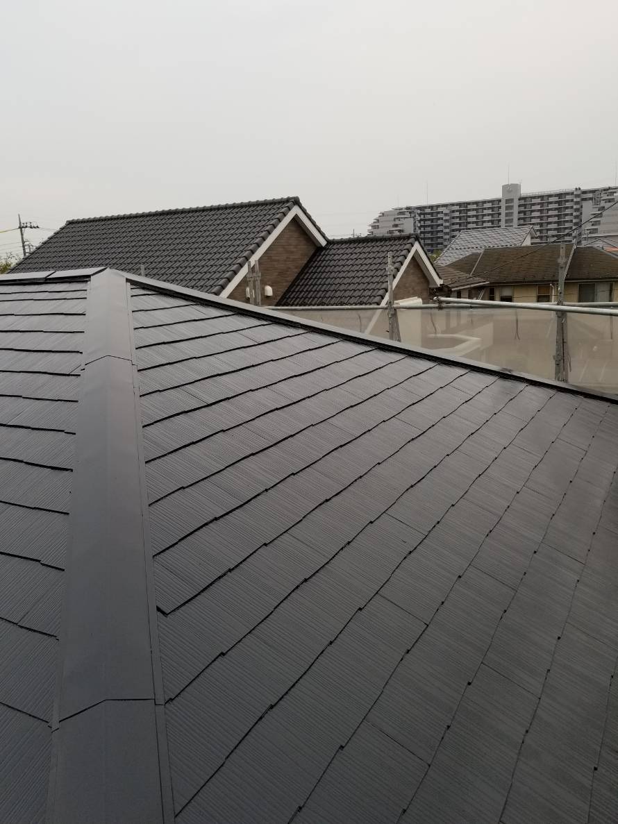 白岡屋根中塗り完了2