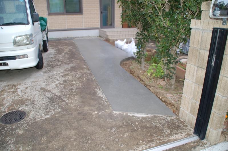 駐車場補修完成