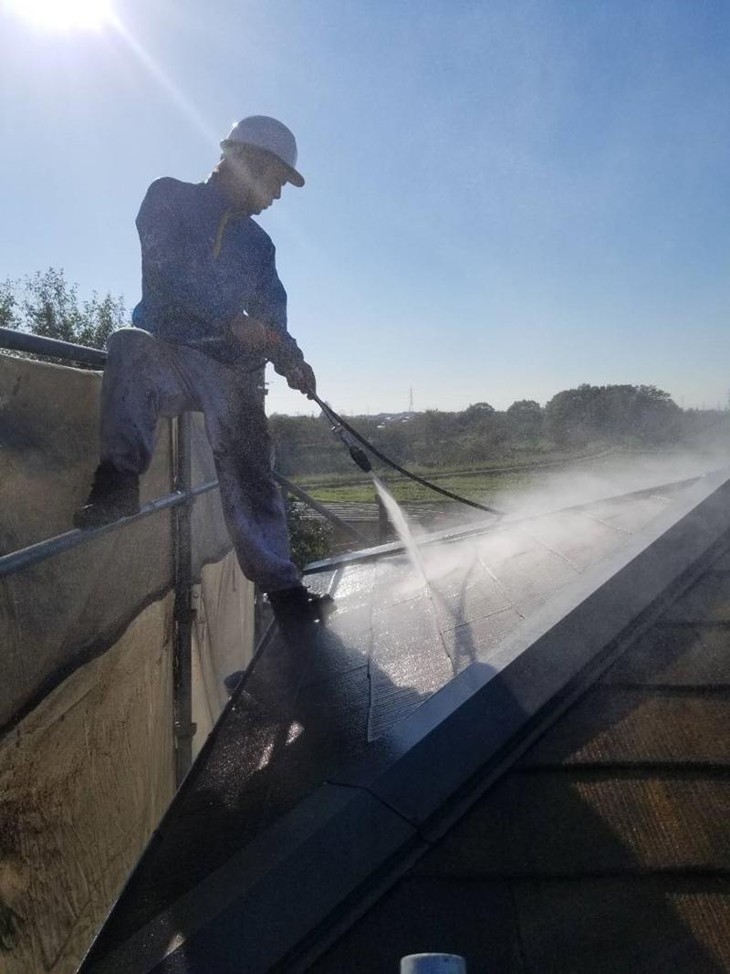 宮代町スレート屋根高圧洗浄