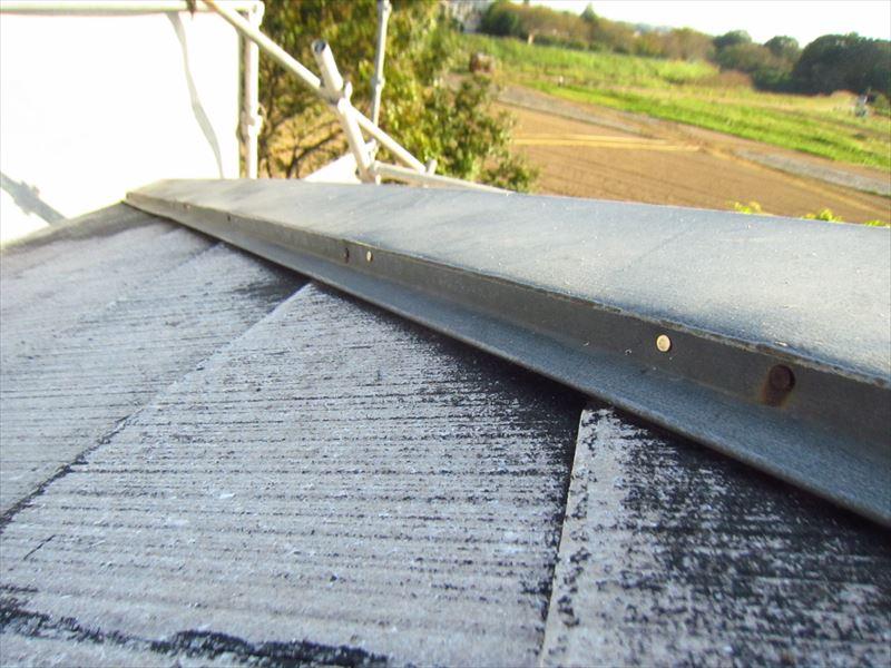 宮代町屋根棟板金釘補修