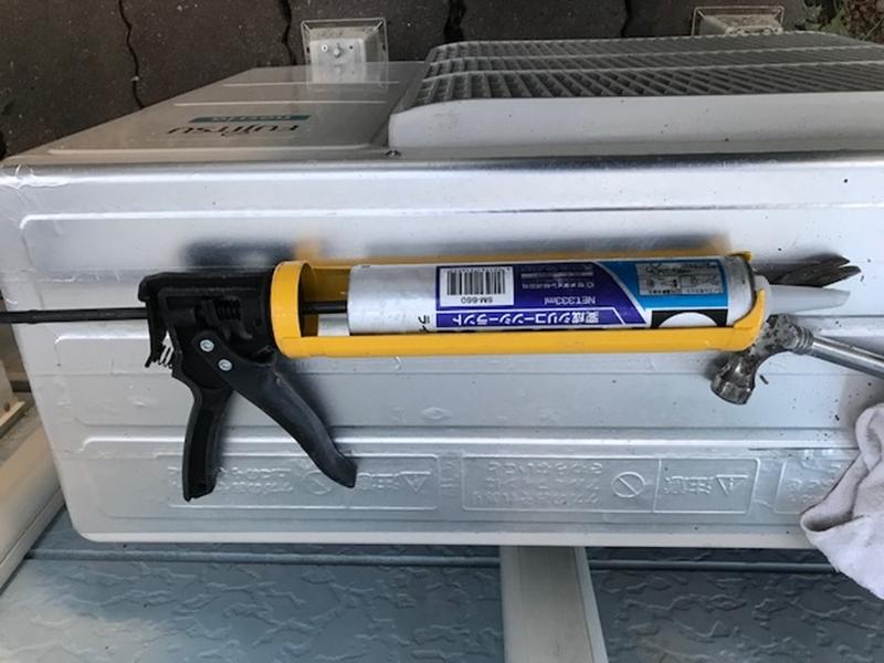 棟包み板金補修に使用変形シリコーンシーラント
