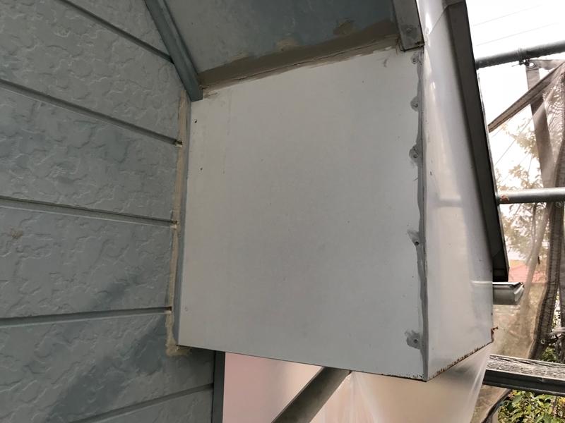 破風板の端不具合補修