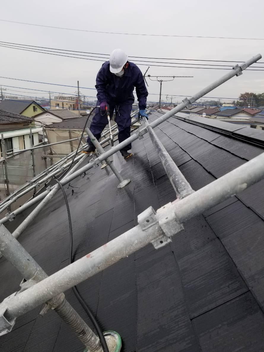 閏戸屋根洗浄