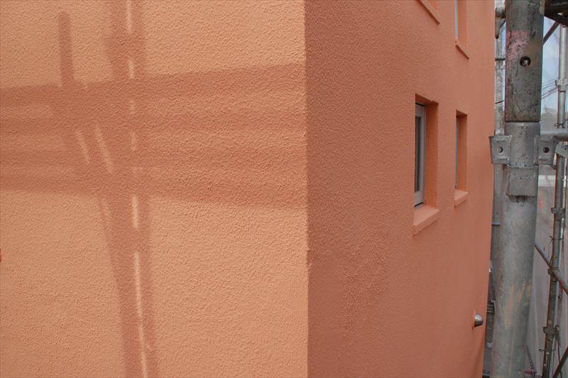 補修後の壁