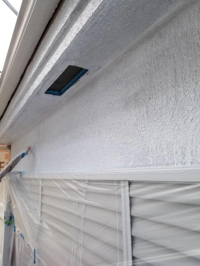 2階南面外壁下塗り完了