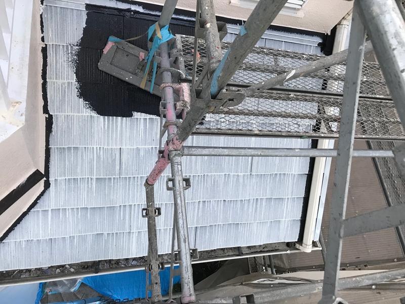 ニッペ「サーモアイシーラー」で屋根下塗り