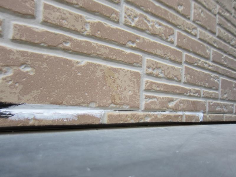 庇上の外壁補修