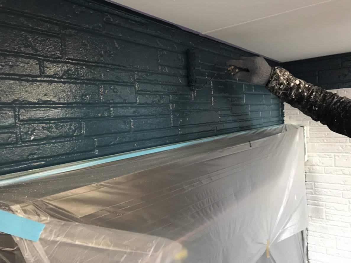 1階上塗り作業