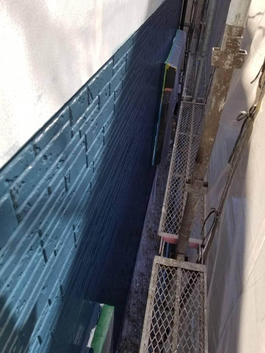 サイディングボード外壁上塗り完了