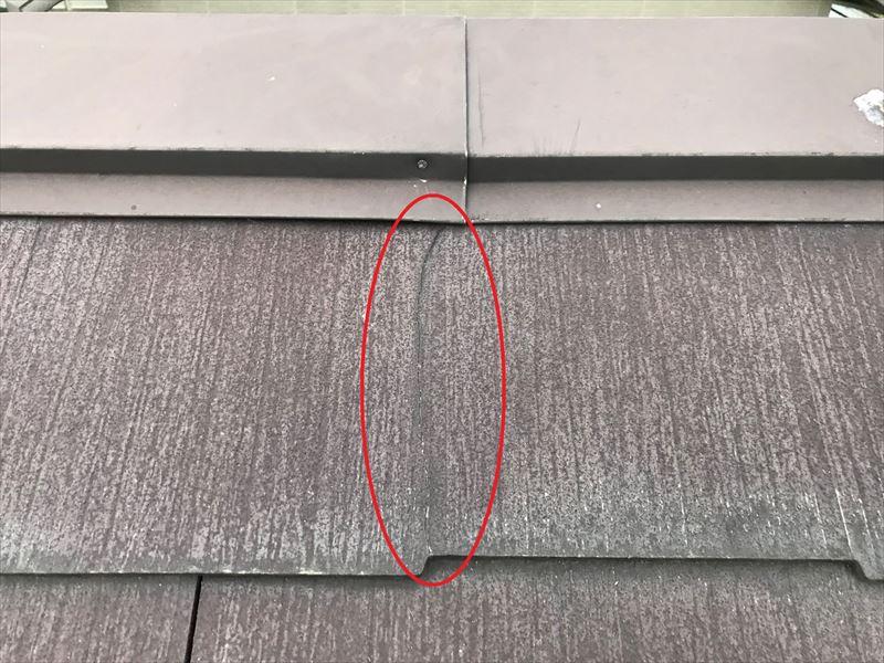 屋根無料点検で瓦ひび割れ発見