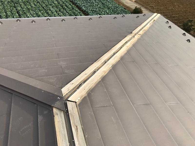 棟板金取れた屋根