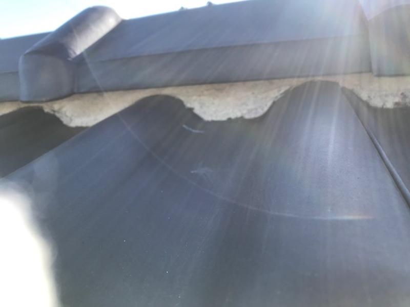 屋根棟漆喰