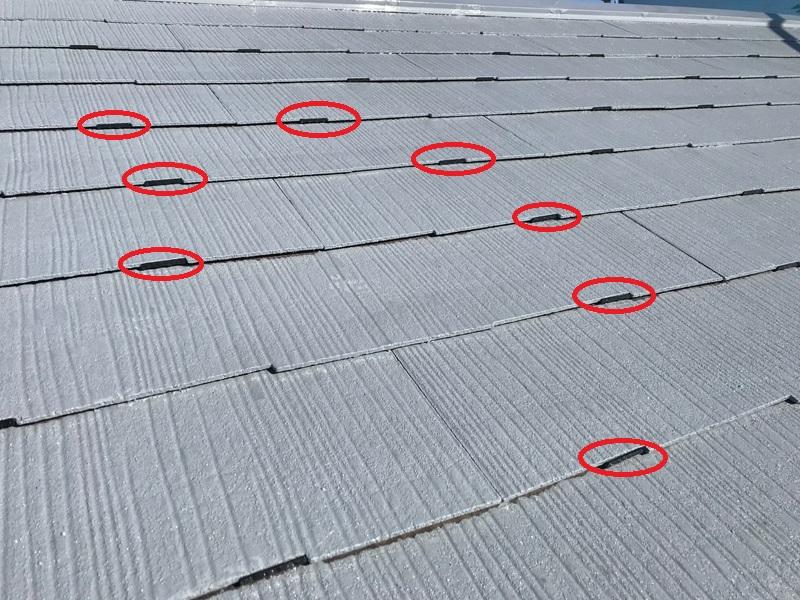 北本市屋根タスペーサー設置完了