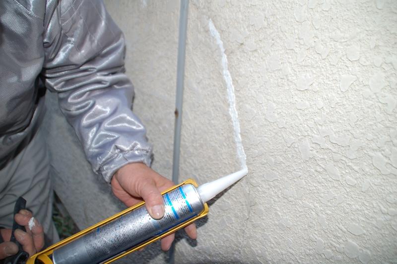 北本市塗装前外壁補修