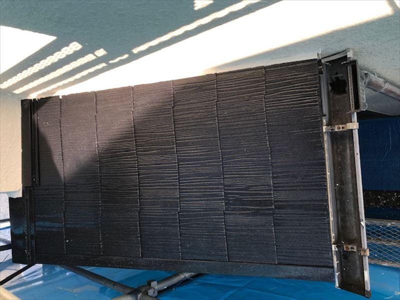 北本市スレート屋根の下屋根塗装完了
