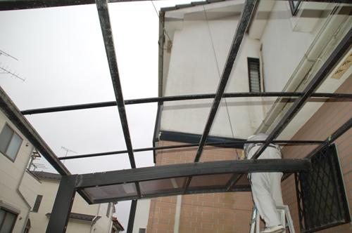 カーポート屋根撤去