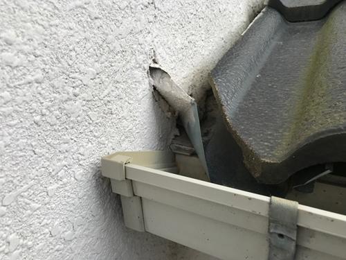 外壁不具合補修前
