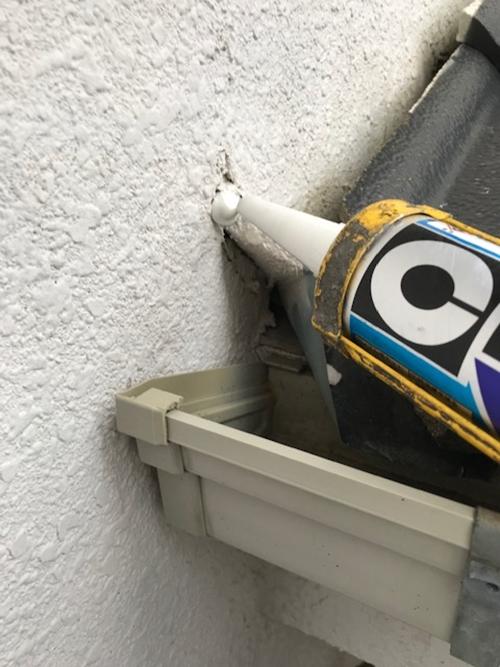 外壁不具合補修作業